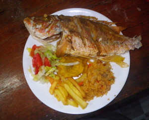 Fish dinner at ITEC