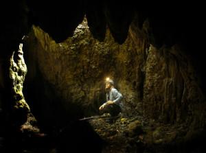 Guy in cave