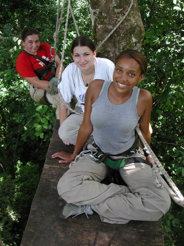 Students on canopy platform.web