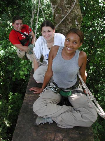 Students on canopy platform.web