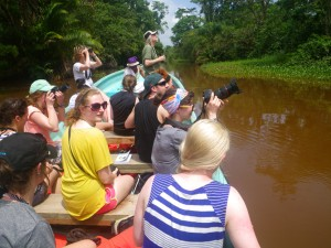 UNBC students birding on the Soropta Canal